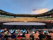 تصاویر خبرنگار اعزامی همشهری از حال و هوای ورزشگاه ملی توکیو در آستانه افتتاحیه المپیک