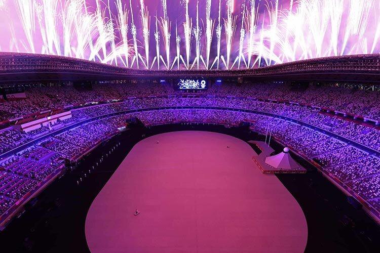 تصاویر | مراسم افتتاحیه بازیهای المپیک تابستانی توکیو ۲۰۲۰ با حضور ورزشکاران ایران