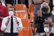 عکس | مکرون و بایدن، تماشاگران ویژه بسکتبال المپیک توکیو