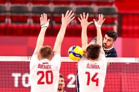 تصاویری دیدنی از والیبال ایران و لهستان | بردی به شیرینی طلای فروغی