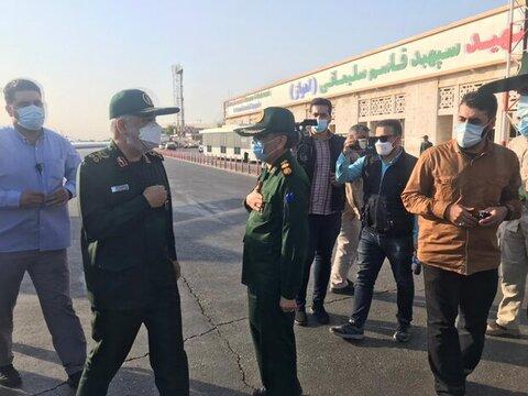 فرمانده سپاه به خوزستان رفت