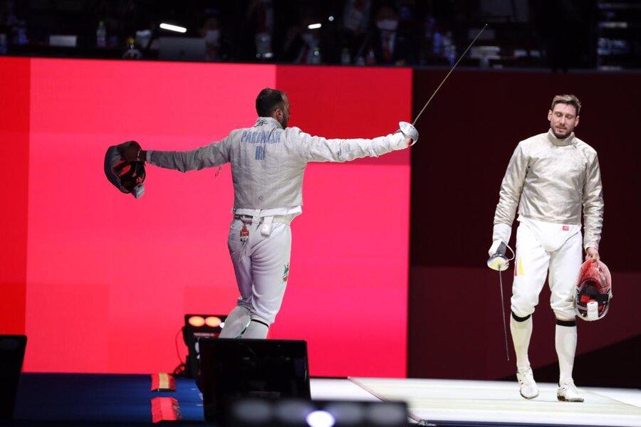 تصاویر | لحظه صعود پاکدامن به یک چهارم نهایی المپیک
