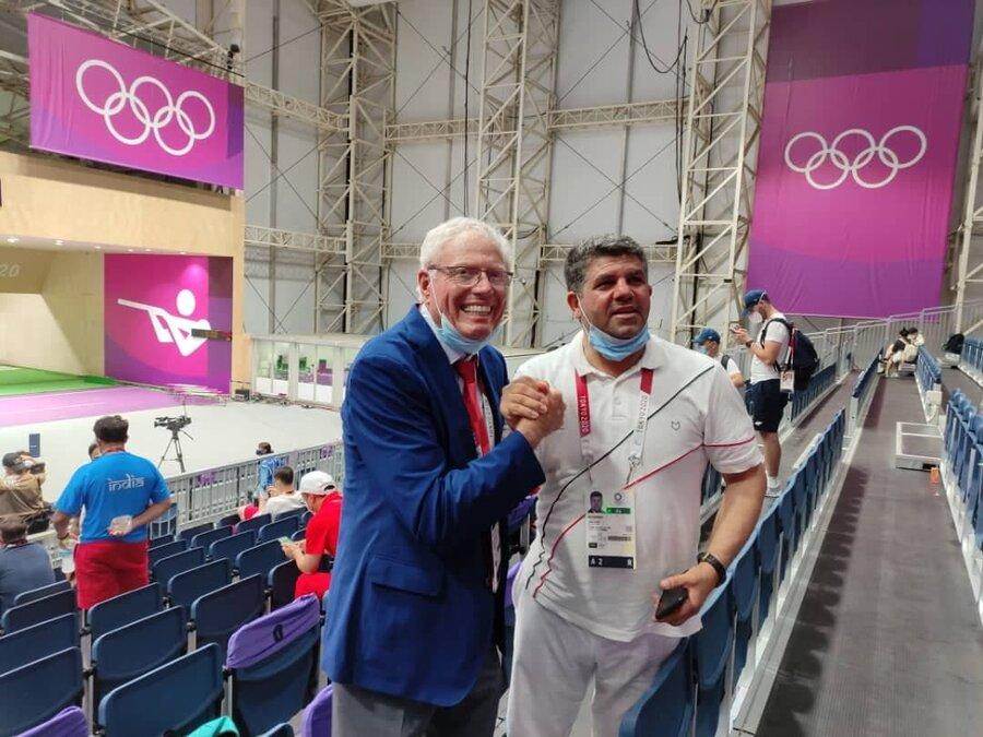عکس   واکنش رئیس فدراسیون آمریکا به اولین طلای ایران در المپیک توکیو