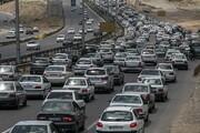 افزایش ۴ درصدی ترددهای جاده ای | ترافیک سنگین در جاده کرج-چالوس