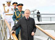 تصاویر | ناوشکن ایرانی سهند در رژه دریایی روسیه