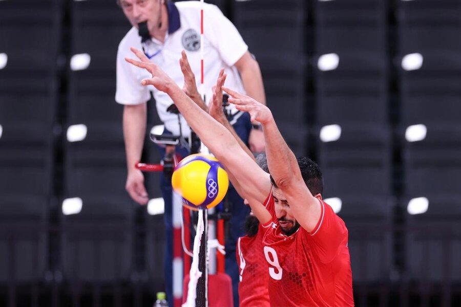 تصاویر   دومین پیروزی تیم والیبال در المپیک
