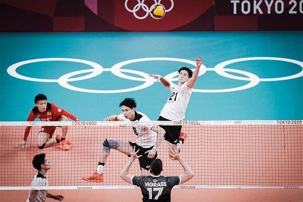 برتری تیم والیبال المپیک ژاپن در مقابل کانادا   میزبان صدر جدول را از ایران گرفت