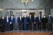 عکس یادگاری اعضای ستاد هماهنگی اقتصادی دولت