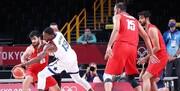 المپیک توکیو | شکست بسکتبال ایران برابر آمریکا با اختلاف زیاد
