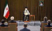 تصاویر | آخرین دیدار رئیس جمهوری و هیات دولت با رهبر انقلاب