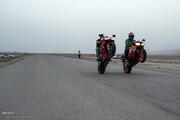 کوچ موتورسواران گرمسار به اتوبان قم