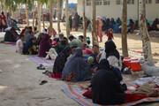 تصاویری از اردوگاه آوارگان افغان در شهر در آستانه سقوط قندهار
