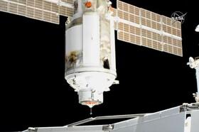آزمایشگاه مداری روسی در ایستگاه فضایی پهلو گرفت| روشن شدن اشتباه موتورهای آزمایشگاه ایستگاه را چرخاند