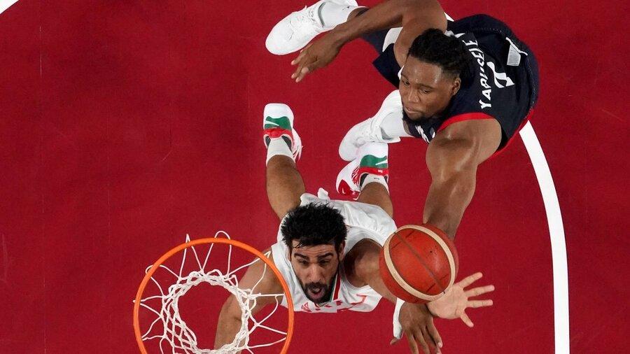 بسکتبال ایران و فرانسه در المپیک توکیو