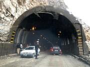 جاده هراز بازگشایی شد | نجات مسافران محبوس در تونل بعد از ۱۰ ساعت