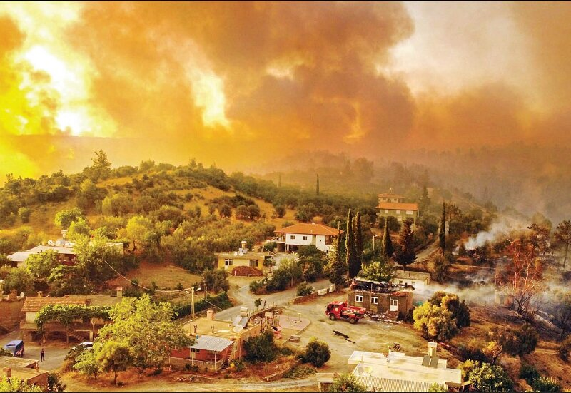 آتش سوزی- ترکیه