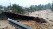 ویدئو |تصاویر هولناک از جاری شدن سیل در مازندران |آب، پل یک روستا را برد