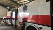 ویدئو | رونمایی از نخستین اتوبوس-آمبولانس ملی در ایران