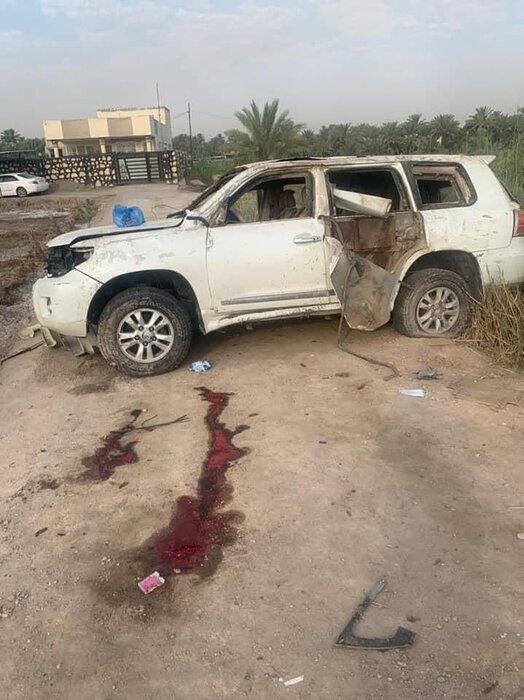 عکس   فرمانده تیپ نهم الحشد الشعبی ترور شد