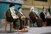 رهبر انقلاب در مراسم تنفیذ حکم ریاست جمهوری: با مردم صادقانه حرف بزنید | با فساد و مفسد بیامان مبارزه کنید
