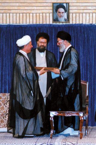مراسم تنفیذ حکم ریاست جمهوری هاشمی در سال 72