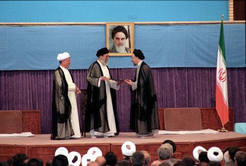 مراسم تنفیذ حکم ریاست جمهوری سید محمد خاتمی در سال 76
