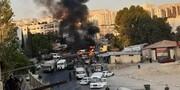 ویدئو | اولین تصاویر از انفجار اتوبوس نظامی در دمشق