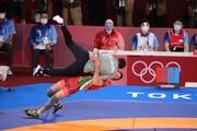 تصاویر | اجرای فن سالتو روی محمد بنا بعد از کسب طلای المپیک