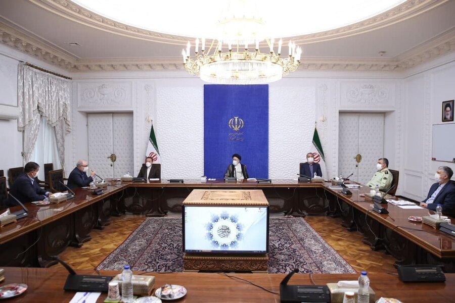 تصاویر   اولین جلسه رسمی رئیسی پس از مراسم تنفیذ