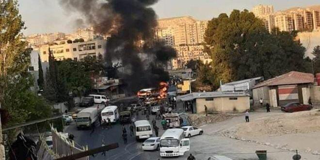 انفجار اتوبوس دردمشق