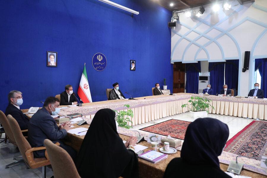 جلسه هیات دولت با حضور رئیسی