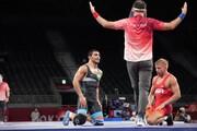 کشتی المپیک |  شکست حسین خانی مقابل قهرمان جهان از آمریکا