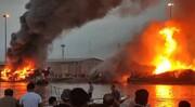 آتش سوزی مشکوک ۵ شناور در بندرگناوه | فرماندار گناوه از خسارات مالی سنگین خبر داد