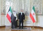 دیدار ظریف با وزیر خارجه کویت | رایزنی درباره همکاری های منطقه ای
