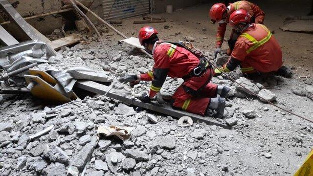 تصاویر | سقوط مرگبار ۲ کارگر از طبقه شانزدهم یک برج در تهران