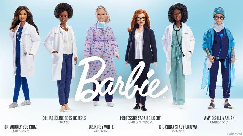 عکس | ۶ عروسکی که به بزرگداشت قهرمانان کرونا آمدند | کاشف واکسن آکسفورد باربی شد !