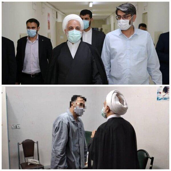عکس   اژهای به بندهای امنیتی زندان اوین رفت