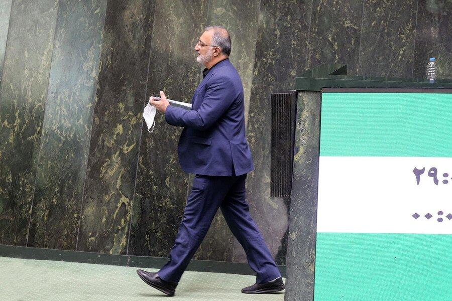 تصاویر | استعفای زاکانی از مجلس