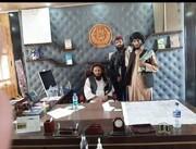 تصویری از حضور طالبان در کاخ ریاست جمهوری