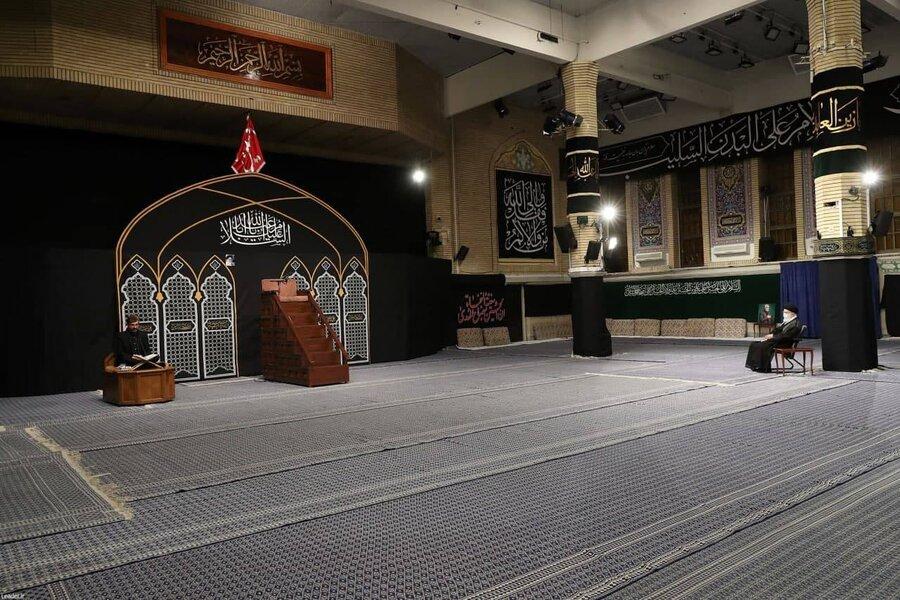 تصاویر| نخستین شب عزاداری ایام محرم در حضور مقام معظم رهبری