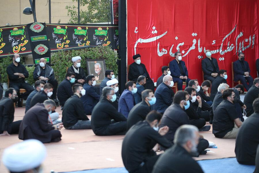 عکس | حضور محسن رضایی و سردار سلامی در مراسم عزدارای نهاد ریاست جمهوری