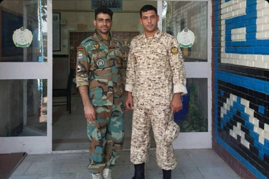 عکس | معاون پرسپولیس با لباس سربازی و موی اصلاح شده