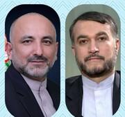 پیام وزیرخارجه دولت اشرف غنی به وزیر خارجه ایران