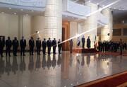 استقبال رسمی رئیسی از نخستوزیر عراق