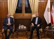 دیدار نماینده جنبش حزب الله لبنان در ایران با وزیر خارجه | تقدیر از فروش سوخت به لبنان
