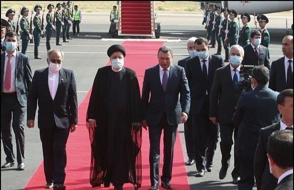 استقبال از رئیسی در تاجیکستان