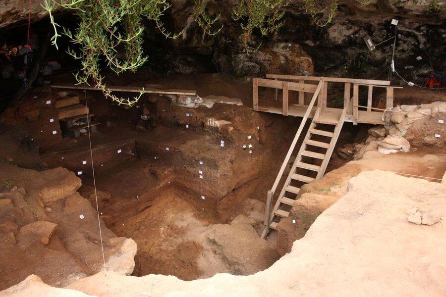 غار انسانهای اولیه در مغرب