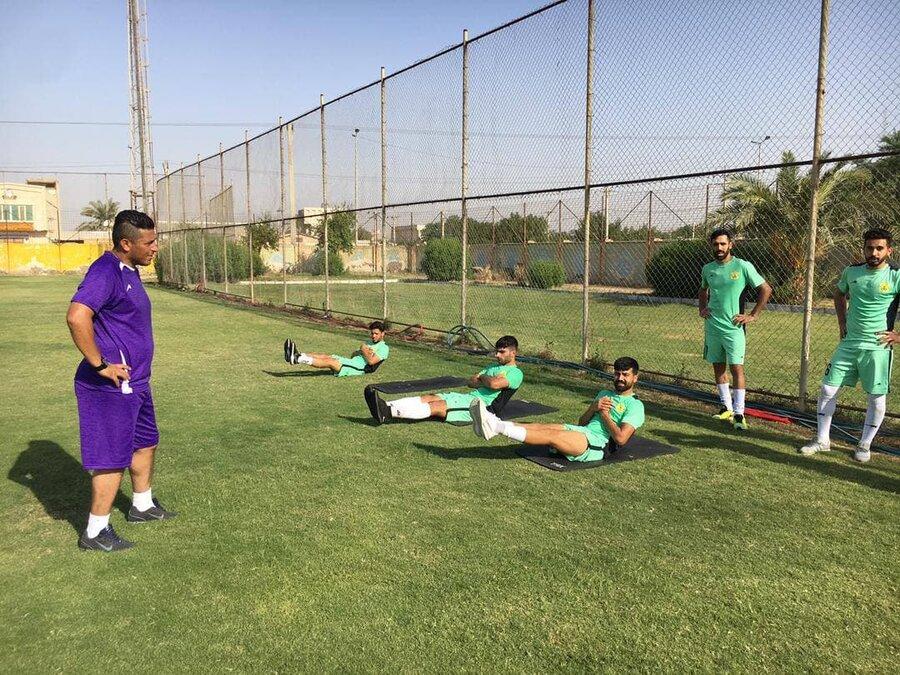 عکس   ستاره خوشتکنیک سالهای دور استقلال به دنیای فوتبال بازگشت   مجاهد خذیراوی با فیزیکی ناآشنا در مستطیل سبز