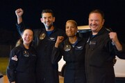 عکس روز| بازگشت چهار گردشگر فضایی