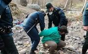 ویدئو | جمعآوری موادفروشان و معتادان از دره فرحزاد | حضور زنان معتاد بین مردان مجرم